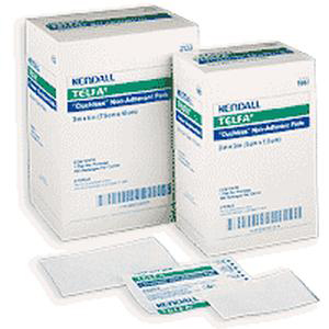 """Kendall Telfa Ouchless Non-Adherent Pad, Cotton, 3"""" x 4"""""""