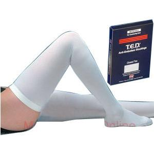 Kendall T.E.D Thigh-Length Continuing Care Anti-Embolism Stockings, Small Long, White