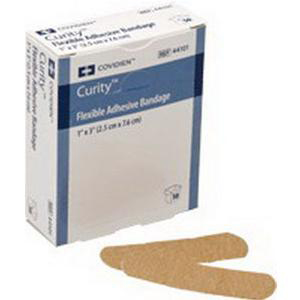 """Curity Fabric Adhesive Bandage 2"""" x 3-3/4"""" xL with 1-1/4"""" x 1-7/8"""" Pad"""