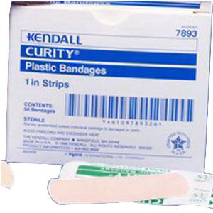 """Curity Plastic Bandage 3/4"""" x 3"""" with 3/4"""" x 7/8"""" Pad"""