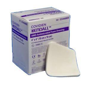 """Kendall AMD Antimicrobial Polyurethane Foam Dressing 4"""" x 8"""""""