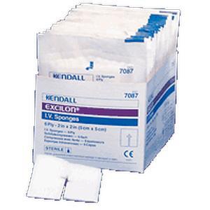 "Kendall Excilon Sterile Drain Sponge, Sterile, 2s, 4"" x 4"""