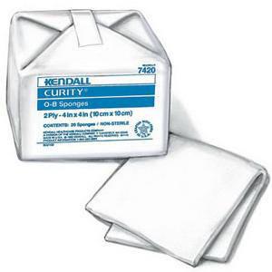 "Curity Cotton O-B Sponge, 2-Ply, 4"" x 4"""