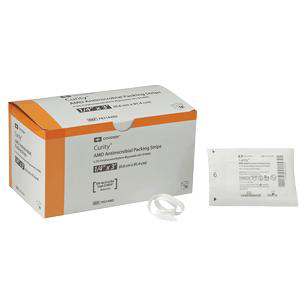 """Curity AMD Antimicrobial Packing Strips, 1/4"""" x 1 yards"""