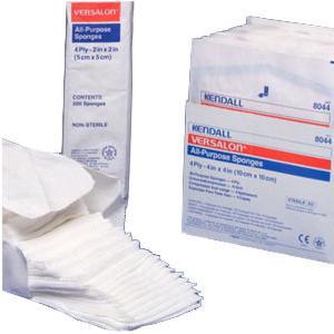 """Kendall Versalon Sterile Non-Woven Sponge, 4-Ply, 2s, 3"""" x 4"""""""