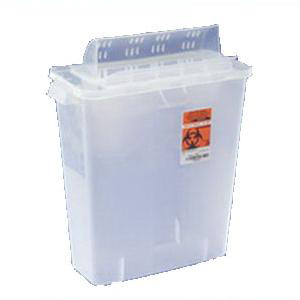 In-Room Sharps Container with Always-Open Lid 12 Quart