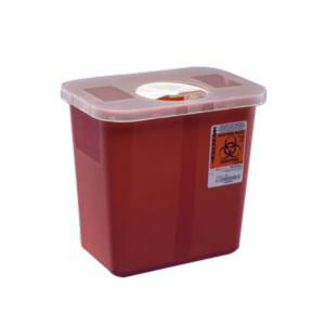 Kendall Multi-Purpose Sharps Container with Hinged Rotor Lid 3 Gallon