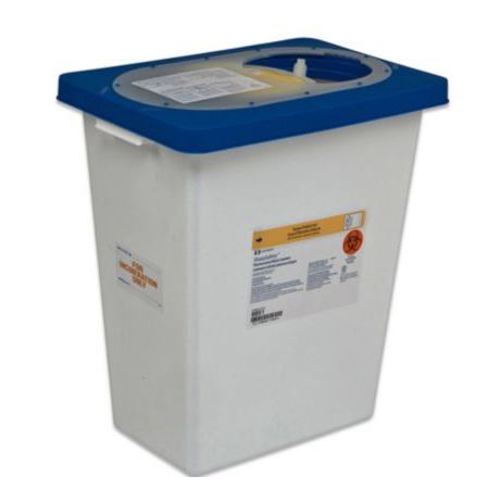 Kendall SharpSafety Pharmaceutical Waste Container, Counterbalance Lid, 3 Gallon
