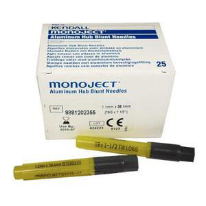 "Monoject Blunt Needle Cannula 19G x 1-1/2"" Lime"