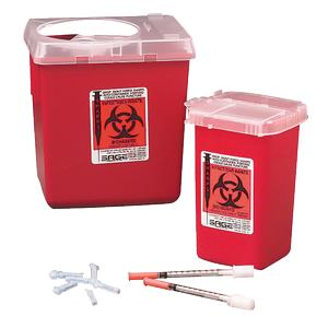 Kendall SharpSafety Autodrop Phlebotomy Container 1 Quart