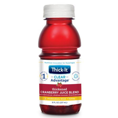 Kent Thick-It Honey Consistency Thickened Beverage, Cranberry, 8 oz.
