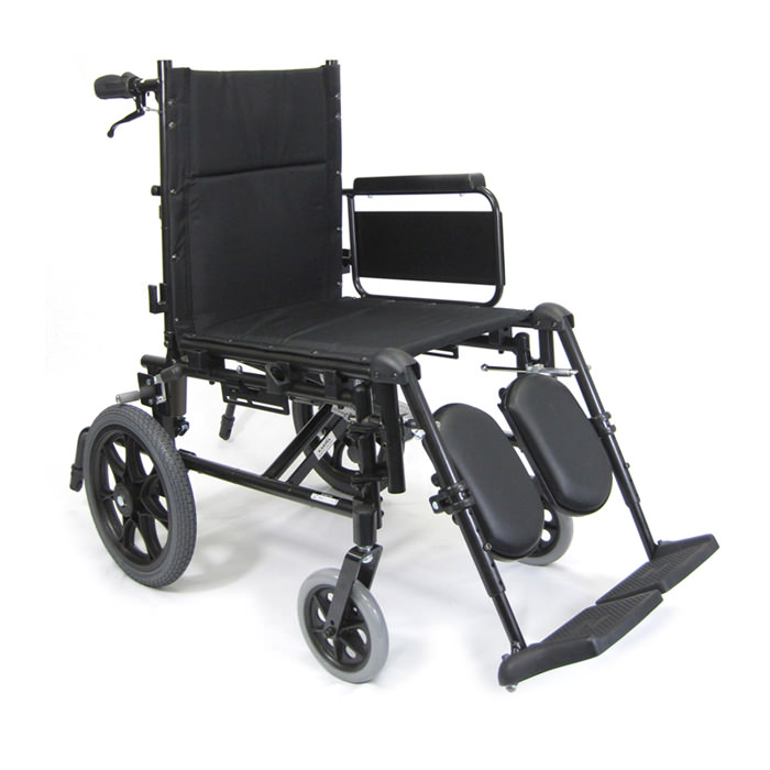 Karman healthcare reclining aluminum transport wheelchair