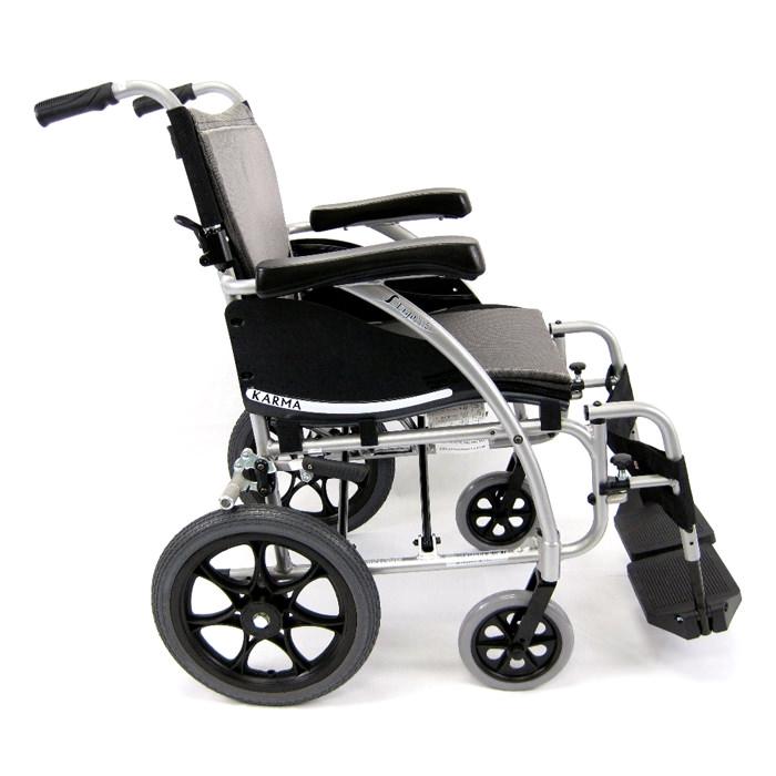 Karman healthcare 115-TP lightweight transport wheelchair - Fixed armrest