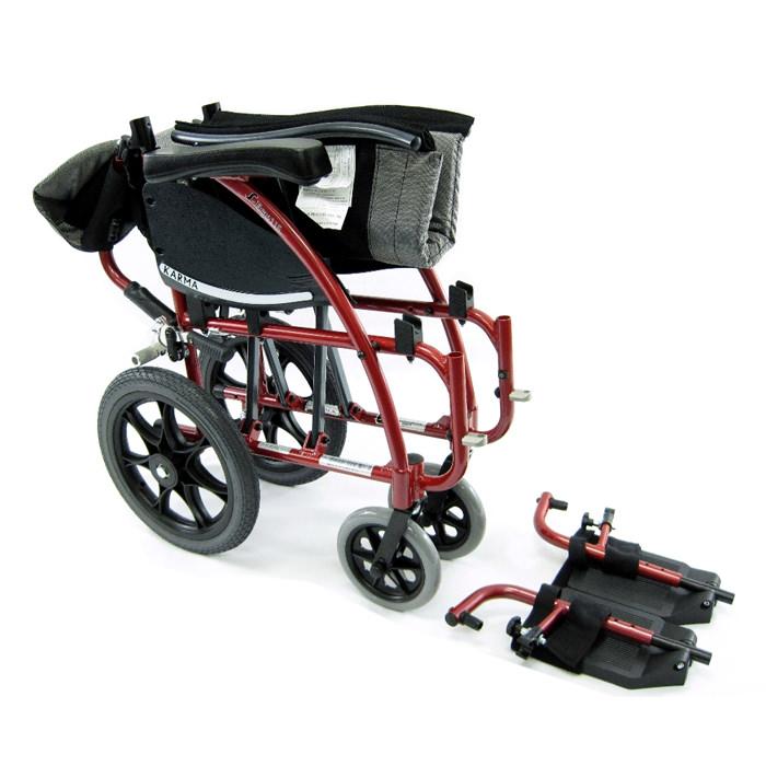 Karman healthcare 115-TP folding transport wheelchair