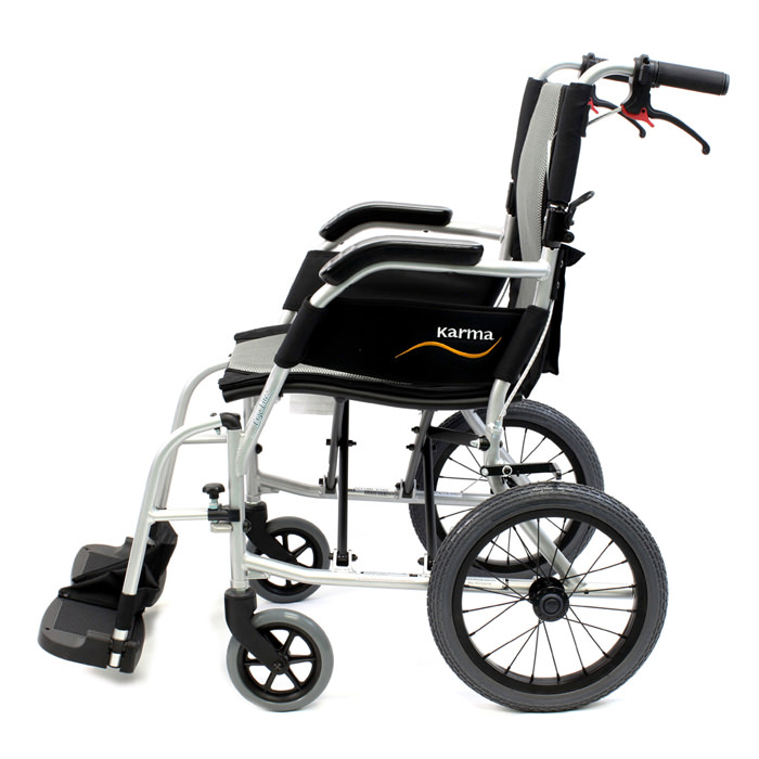 Karman healthcare ergo flight aluminum transport wheelchair
