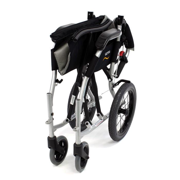 Ergo flight folding transport wheelchair