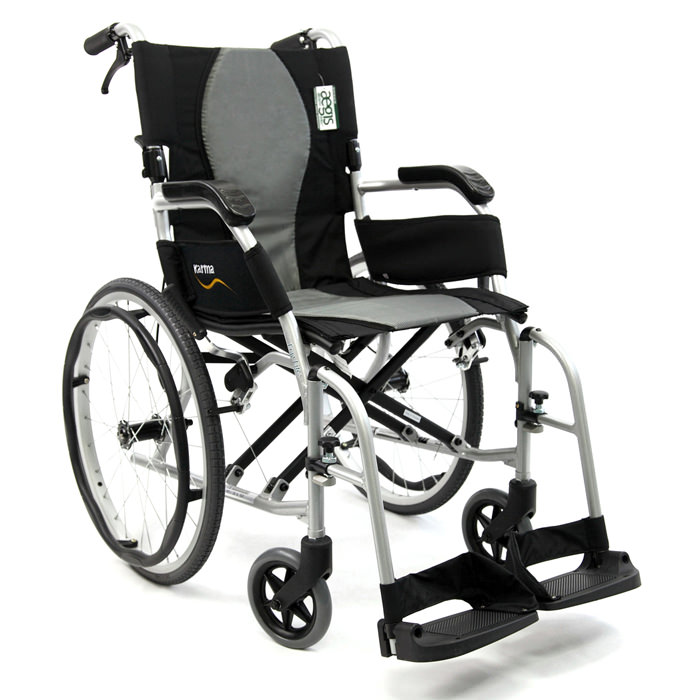 Karman healthcare ergo flight wheelchair with caregiver brakes