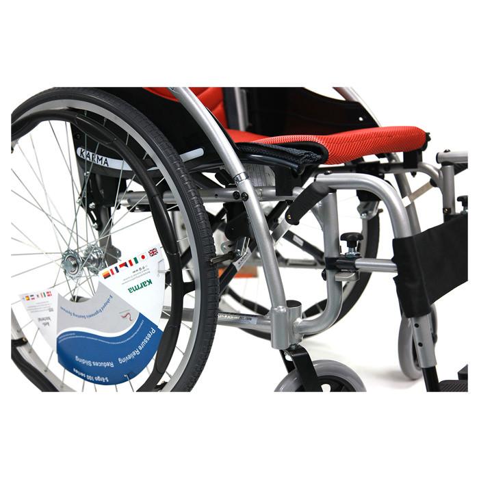 Karman healthcare S-ERGO 125 wheelchair - Polyurethane rear wheels