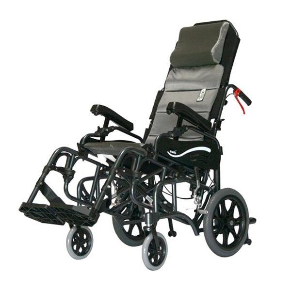 Karman healthcare VIP515 tilt-in-space transport wheelchair