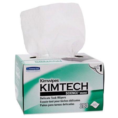 "Kimberly-Clark Kimtec Science Kimwipes Delicate Task Wiper, 8-2/4"" L x 4-2/4"" W"