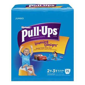 Huggies Pull-Ups Learning Designs Training Pant, for Boy, 2T to 3T