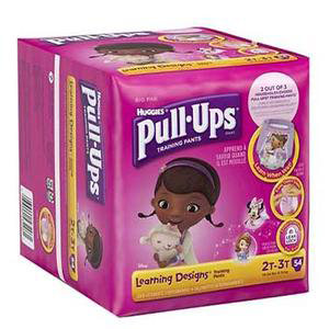 Huggies Pull-Ups Learning Designs Training Pant, for Girl, Big Pack, 2T to 3T