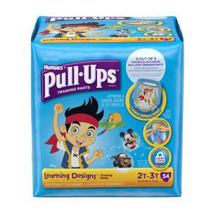 Huggies Pull-Ups Learning Designs Training Pant, for Boy, Big Pack, 2T to 3T