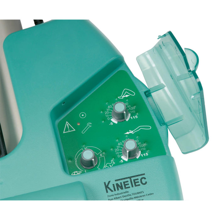 Kinetec prima advance knee CPM - Adjustment panel for ROM limits