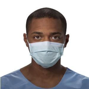 Kimberly Clark Procedure Mask with Earloops, Latex-free, Non-sterile, Blue