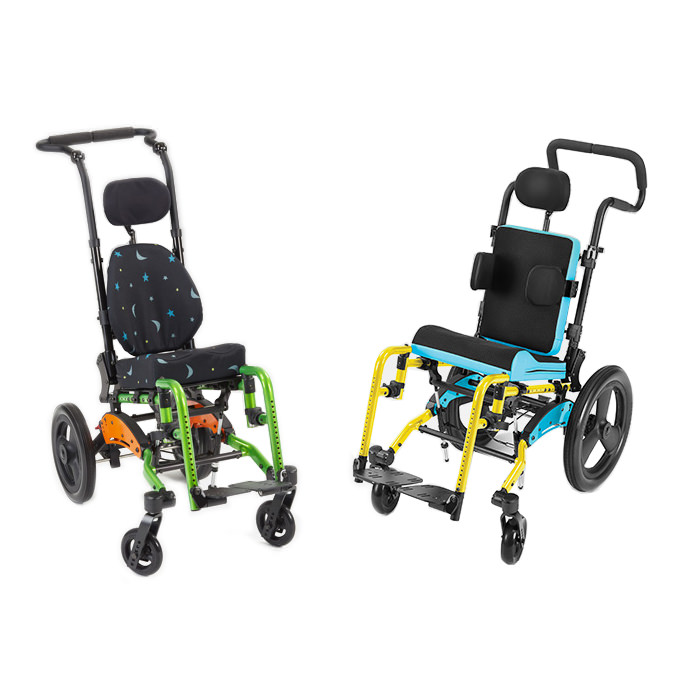 Ki Mobility Little wave Flip XP tilt wheelchair