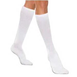 Knit-Rite Unisex Core-Spun Light Support Socks, Medium, White
