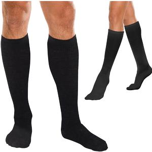 Therafirm CoreSpun Moderate Support Knee-High Socks Large, Black