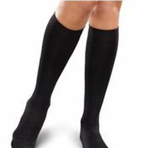 Knit-Rite Therafirm Ease Knee-High Support Sock, Small Long, Black