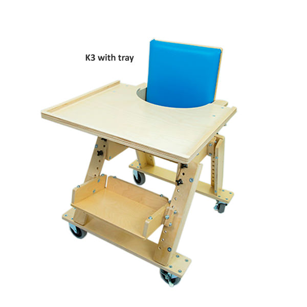 Kaye large kinder chair with tray