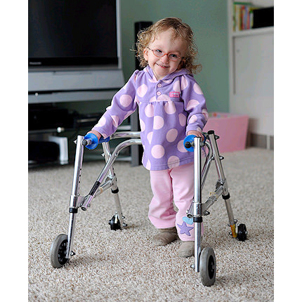 Kaye B frame posture control walker for small child