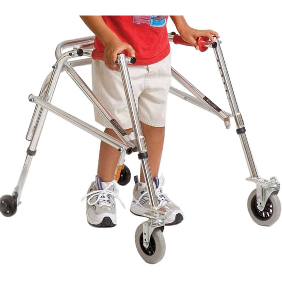 Kaye youth posture control walker with swivel wheels