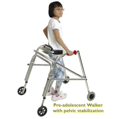 Kaye pre-adolescent B frame walker