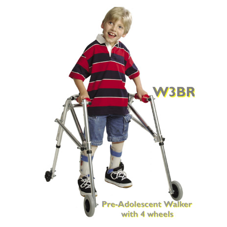Kaye pre-adolescent posture control walker - Four wheeled