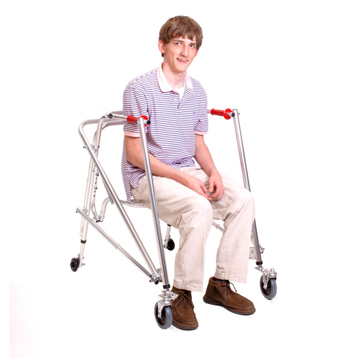 Kaye posture control walker with built-in seat - Large