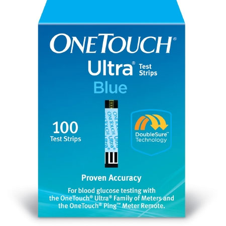 LifeScan OneTouch Ultra Blood Glucose Test Strips, 100 Strips