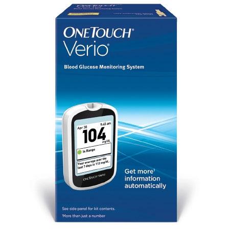 LifeScan OneTouch Verio Fingertip Blood Glucose Meter, 0.4 Microliter