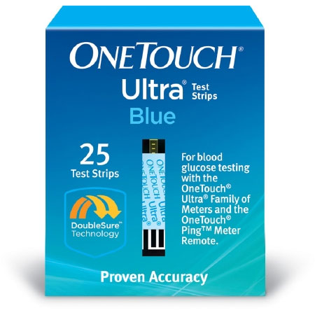 LifeScan OneTouch Ultra Blood Glucose Test Strips, 25 Strips