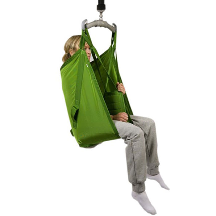 Liko polyester sling with reinforced leg support