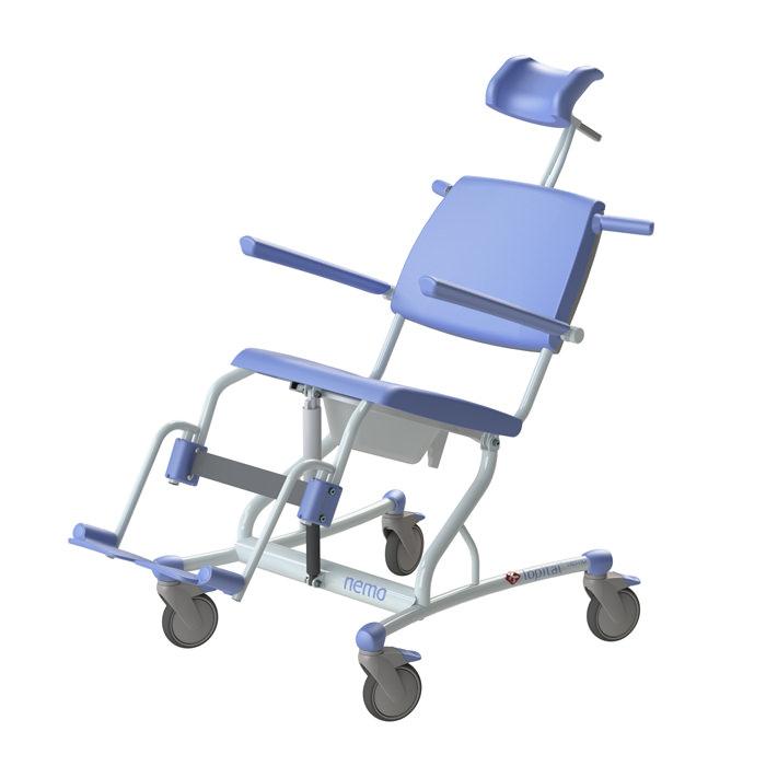 Lopital Nemo Mobile Tilt Shower Toilet Chair