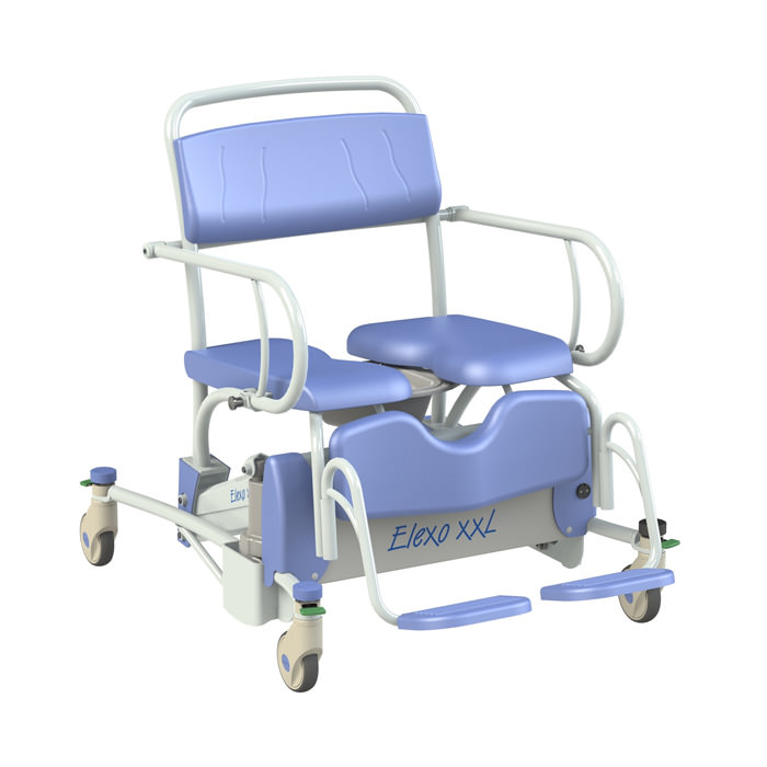 Lopital Elexo XXL Bariatric Tilt Rehab Shower Commode Chair