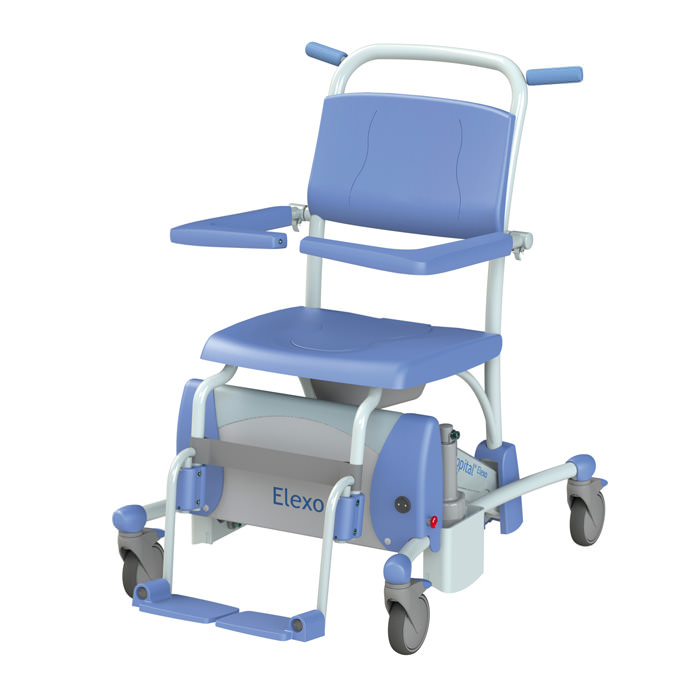 Lopital Elexo Tilt Rehab Shower Commode Chair