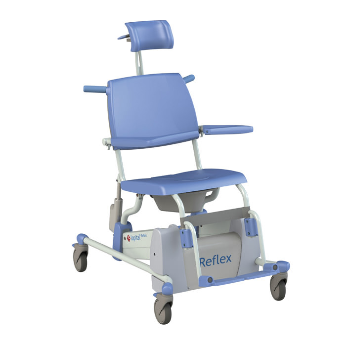 Lopital Reflex Tilt Rehab Shower Commode Chair