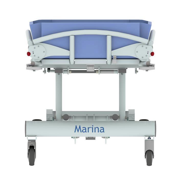 Marina Hydraulic Shower Trolley by Lopital