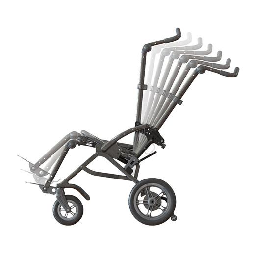 Leggero Reach Folding Stroller - Back recline