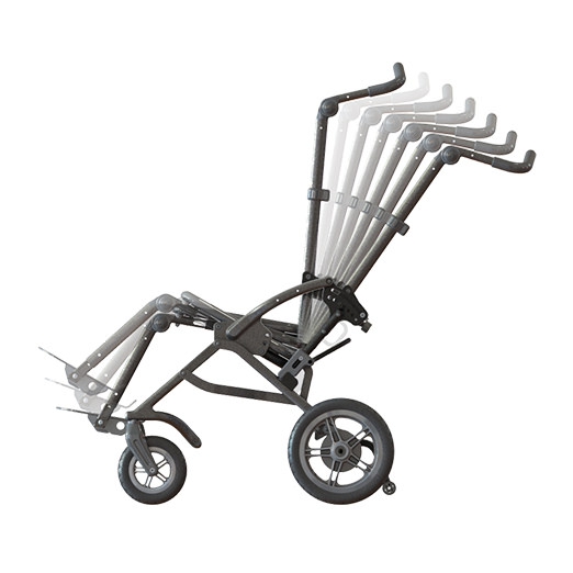 Leggero Reach Folding Stroller - Back recline